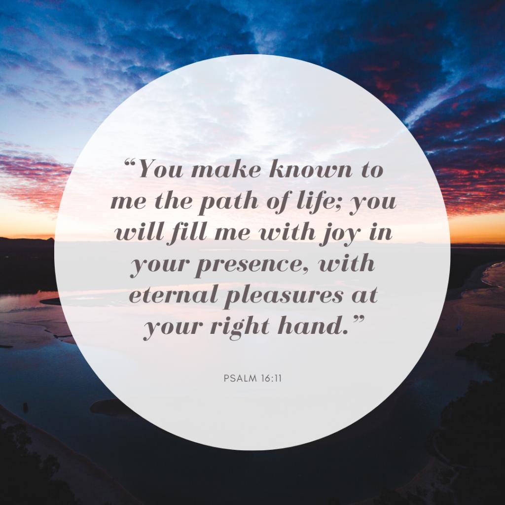 true joy psalm 16:11 devotional