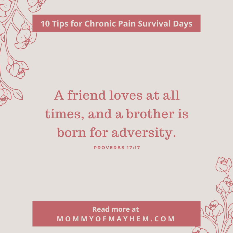 chronic pain survival days inspirational quote