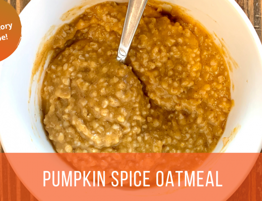 Anti-inflammatory pumpkin spice oatmeal